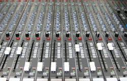 Sound Mixer. Controls of a sound mixer Stock Images