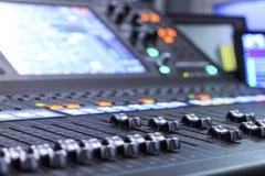 Sound Mixer. A Sound Mixer Royalty Free Stock Photo