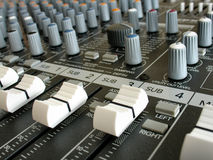 Sound mixer royalty free stock photos