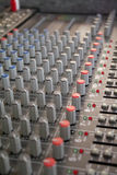 Sound mixer. Music mixer board Royalty Free Stock Photo
