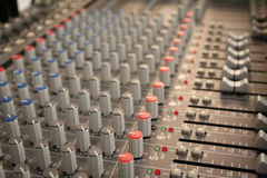 Sound mixer. Music mixer board Stock Images