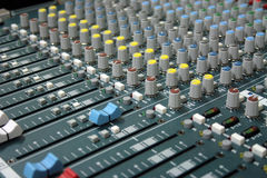 Sound mixer. Professional sound mixer in the recording studio Stock Photography