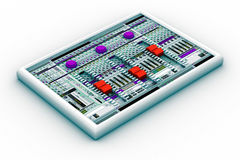 Sound mixer for audio recording Stock Photography
