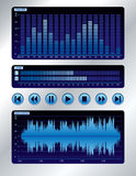 Sound mixer blue digital display Stock Image