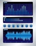 Sound mixer blue digital display royalty free illustration