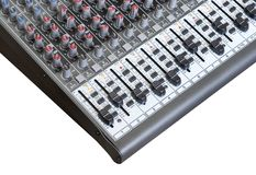 Sound mixer board Stock Photo
