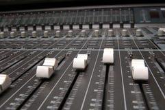 Sound mixer board closeup Stock Image