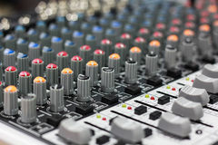 Sound mixer. Button control sound mixer and sound record royalty free illustration
