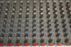Sound mixer buttons Stock Photo