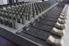 Sound mixer buttons Royalty Free Stock Images