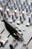Sound Mixer and Cable Royalty Free Stock Photos