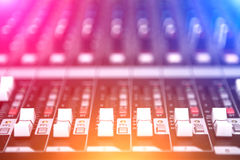 Sound Mixer. Close up view modern style Royalty Free Stock Images