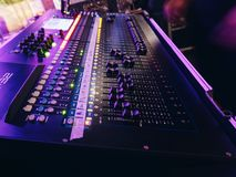Sound mixer. Concert sound mixer Royalty Free Stock Photos