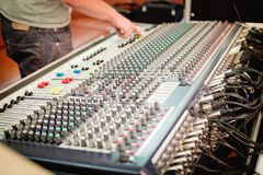 Sound mixer in concert Royalty Free Stock Images