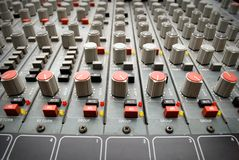 Sound mixer console Royalty Free Stock Photo
