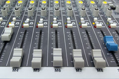 Sound mixer console Stock Images