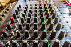 Sound mixer console Royalty Free Stock Image