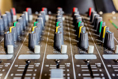 Sound mixer console Stock Image