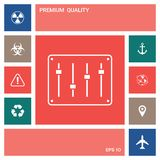 Sound mixer console icon . Elements for your design. Sound mixer console icon . Signs and symbols - graphic elements for your design stock illustration