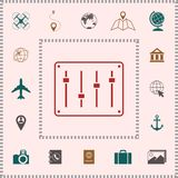 Sound mixer console icon . Elements for your design. Sound mixer console icon . Signs and symbols - graphic elements for your design vector illustration