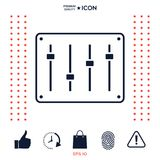 Sound mixer console icon. Signs and symbols - graphic elements for your design Stock Image