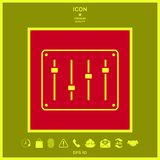Sound mixer console icon. Signs and symbols - graphic elements for your design royalty free illustration