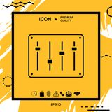 Sound mixer console icon. Element for your design Stock Photography