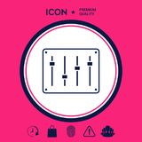 Sound mixer console icon. Signs and symbols - graphic elements for your design Royalty Free Stock Photos