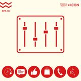 Sound mixer console icon. Signs and symbols - graphic elements for your design Stock Photo