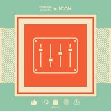 Sound mixer console icon. Signs and symbols - graphic elements for your design Royalty Free Stock Images
