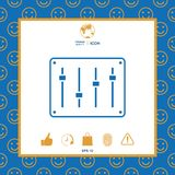 Sound mixer console icon. Signs and symbols - graphic elements for your design vector illustration