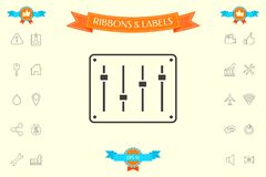 Sound mixer console icon. Signs and symbols - graphic elements for your design stock illustration