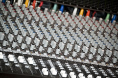 Sound mixer console in a recording studio Royalty Free Stock Photos