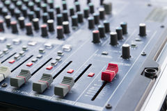 Sound mixer console Royalty Free Stock Images