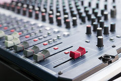 Sound mixer console Stock Photography