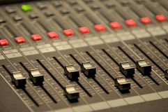 Sound mixer control Stock Photo