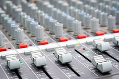 Sound Mixer Control Royalty Free Stock Photography