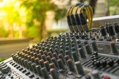 Sound mixer control Stock Photography
