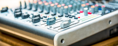 Sound mixer control Royalty Free Stock Photos