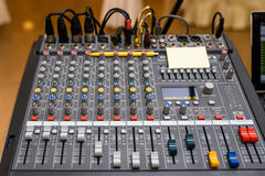 Sound mixer control Royalty Free Stock Images