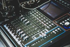 Sound mixer control for live music Royalty Free Stock Images