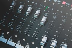 Sound mixer control for live music Royalty Free Stock Photo