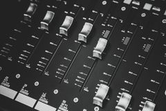 Sound mixer control for live music Stock Image