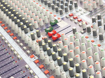 Sound mixer control music. Royalty Free Stock Photography