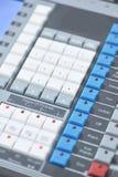 Sound mixer control panel Stock Images