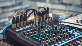 Sound Mixer Control Panel Button royalty free stock image