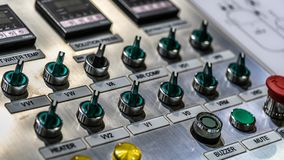Sound Mixer Control Panel Buttons royalty free stock photography