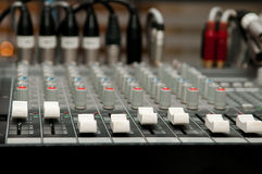 Sound mixer control panel Stock Images