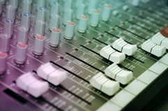 Sound mixer control panel Stock Photos