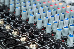 Sound mixer control panel Stock Photography